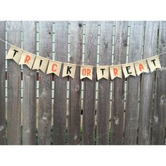 Quality banner that will last years! from my Etsy shop https://www.etsy.com/listing/248221025/halloween-decoration-trick-or-treat   Halloween Decoration, Trick or Treat Burlap Banner, Halloween Banner, Happy Halloween, Burlap Banner Bunting, Halloween Bunting