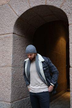 Scandinavian autumn Jacket: Levis Jeans: J. Lindeberg Hat: J. Lindeberg Shirt: J. Lindeberg Scarf: ACNE Studios