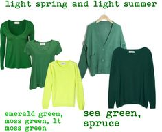 """light spring and light summer greens"" by expressingyourtruth on Polyvore"