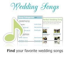 didn't know this, but weddingwire has a long list of wedding songs for each event (ceremony songs like prelude, processional, etc)