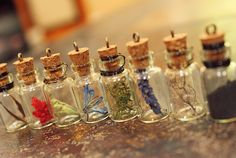 Skyrim Inspired Alchemy Ingredient Pendant by MojaveOutpost Glass Bottles With Corks, Mason Jar Wine Glass, Enchanted Forest Book, Diy And Crafts, Arts And Crafts, Bottle Jewelry, Kawaii Jewelry, Diy Gifts For Boyfriend, Diy Games
