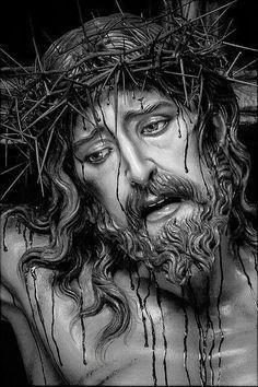 Jesus Christ Drawing, Jesus Drawings, Christ Tattoo, Jesus Tattoo, Pictures Of Jesus Christ, Jesus Painting, Jesus Face, Biblical Art, Christian Art