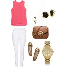 Cute outfit by ktanner02 on Polyvore featuring polyvore, fashion, style, Rebecca Minkoff, Topshop, Tory Burch, Michael Kors and House of Harlow 1960
