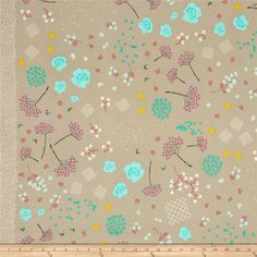 Cotton & Steel Mochi Mochi Floral Taupe from @fabricdotcom  Designed by Rashida Coleman-Hale for Cotton + Steel, this cotton print is perfect for quilting, apparel and home decor accents. Colors include mint, turquoise, magenta, cherry, white, grey, and taupe.