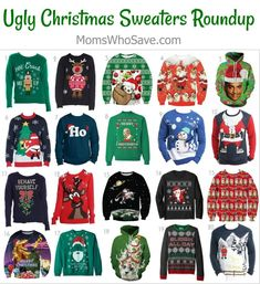 Our Favorite Ugly Christmas Sweaters (and where to buy) #Christmas #holidays #UglyChristmasSweaters #deals