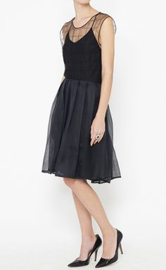 I'm all about the unexpected when it comes to LBD lately. The grid overlay on this dress is amazing!