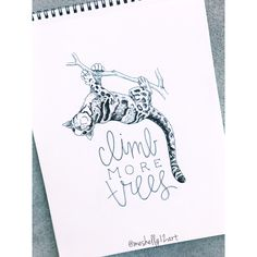 climb more trees, like this clouded leopard! // ig: @meshellg12art pinterest: @meshellg12