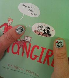 Eeeee! Rainbow Rowell has Baz and Simon nail art!!