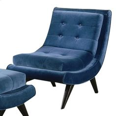 cobalt comfy. more modern than my usual style, but this mid-century beaut speaks to me.