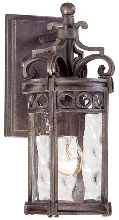 at fireplace back porch 40 View the The Great Outdoors GO 9221 1 Light Outdoor Wall Sconce from the Regal Bay Collection at LightingDirect.com.