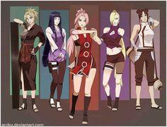 Older versions of the kunoichi ♥♥♥ Temari, Hinata, Sakura, Ino, TenTen ♥ #BEAUTIFUL #FANART ~ From '' Naruto (probably my life) '' xMagic xNinjax 's board ~