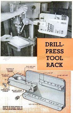 Drill Press Tool Rack - Drill Press