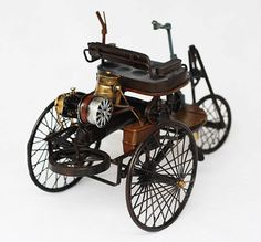 Handmade Antique Tin Model Car-Benz Patent Motorwagen 1886