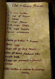 Oat and Raisin Biscots, Tudor Recipe, Tudor Life at Kentwell Hall, 1538.