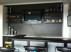 Garage Bar Idea For The Hubbys Man Cave Like This But How Would