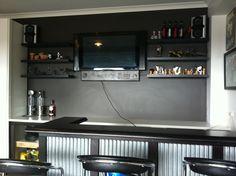 garage bar ideas | View topic - The Gilletts crazy dream - Verander slab and DIY drawer ...
