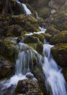 Enipeas falls - - Enipeas falls near Litochoro, Greece