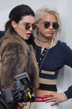 Cara Delevingne & Kendall Jenner in chic, sassy, and alluring look. Cara looks so delicious.