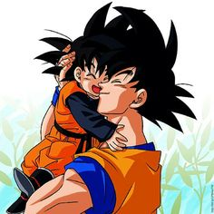 Goku and Goten from the Dragon Ball Z anime