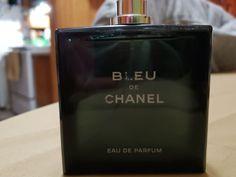 3.4 oz bleu de chanel eau de parfum...... full authentic tester bottle Chanel Men, Flask, Barware, Blue, Drinkware