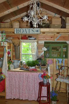A shabby chic shed