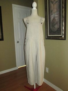f96ff746cf8 L.L. Bean Crop Linen Overall s Size Medium  fashion  clothing  shoes   accessories  womensclothing  jumpsuitsrompers  ad (ebay link)