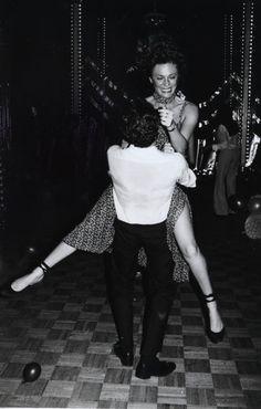Jacqueline Bisset on the dancefloor at Studio 54.