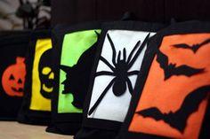 Glow in the dark halloween bags!