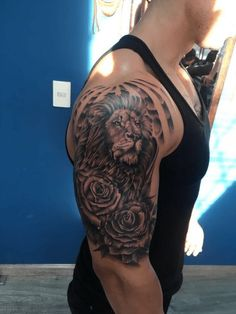 Lion Roses And Lighting Half Sleeve Tattoo Half Sleeves with size 960 X 1280 Half Sleeve Lion Tattoos - Additionally, it's Likely to gain Thoughts of your Lion Tattoo Half Sleeve, Lion And Rose Tattoo, Lion Arm Tattoo, Lion Sleeve, Lion Head Tattoos, Rose Tattoos For Men, Half Sleeve Tattoos For Guys, Mens Lion Tattoo, Lion Tattoo Design
