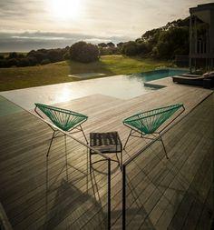 Pool endlos Ferienhaus Sommer Urlaub Sonnenuntergang