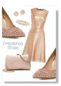"""""""Embellished shoes 7"""" by morgan-a-h ❤ liked on Polyvore featuring Head Over Heels by Dune, Lela Rose, LC Lauren Conrad, Nam Cho and Luna Skye"""