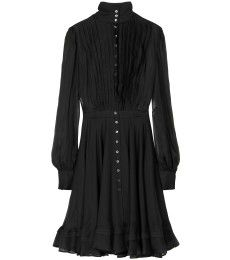 McQ Alexander McQueen - SILK-CHIFFON DRESS WITH RAW-FINISHED TRIM - mytheresa.com GmbH