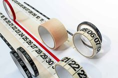 Crea tu propio calendario con cintas adhesivas