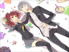 Persona 5 Joker, Persona 4, Anime Love Couple, Couple Art, Rise Kujikawa, Yu Narukami, Character Template, Shin Megami Tensei Persona, Anime One