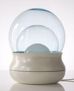 Stilnovo: Enameled aluminum & glass table/floor lamp, R & Company, 1968. Via Katherine Clarke
