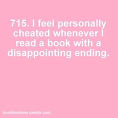 I know it's a problem, but for me the entire value of the book depends on it's conclusion.