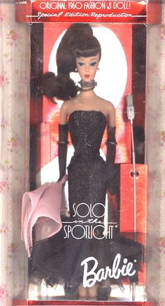Vintage Boxed Solo in the Spotlight Brunette Barbie, 2nd in Nostalgic Series By MATTEL, 1994