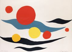 "kafkasapartment: ""Composition with Clouds and Spheres. Alexander Calder 1898 – 1976. Color lithograph """