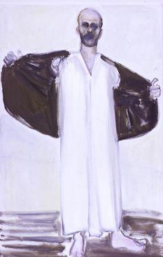 'The Prophet' - 2004 - by Marlene Dumas (South African, b. 1953) - Oil on canvas - 125x70cm.
