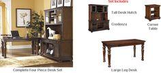 Ashley Porter Home Office Desk Set 6 Office Desk Set, Home Office Desks, Office Decor, The Porter, Dream Furniture, Furniture Collection, Credenza, Liquor Cabinet