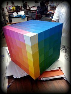 Clase teoria del color,  5to semestre, cubo cromático.