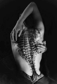 Bio-mechanical Tattoo Designs Examples (7)