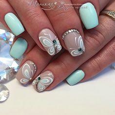 Маникюр   Ногти Butterfly Nail Art, Butterfly Design, Nail Polish Crafts, Trendy Nail Art, Neutral Nails, Holiday Nails, Summer Nails, Nail Art Designs, Nail Arts