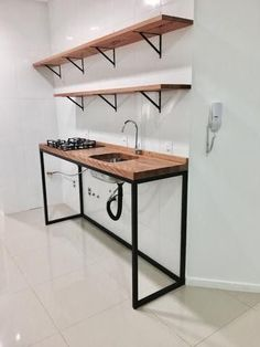 Easy Design Ideas For Unsophisticated Lives Iron Furniture, Kitchen Furniture, Home Furniture, Kitchen Decor, Furniture Design, Unique Wood Furniture, Industrial Kitchen Design, Interior Design Kitchen, Home Room Design