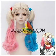 Suicide Squad Harley Quinn Double Color Cosplay Wig from Cosrea Cosplay