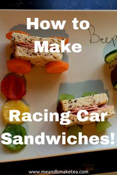 Do you have a fussy eater? Why not try these cute racing car sandwiches. they take minutes to make and are super cute!