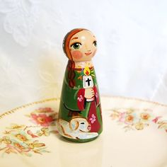 Saint Genevieve Doll  Catholic Saint Doll  by SaintAnneStudio, $48.00