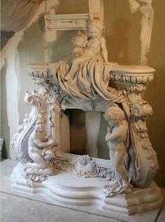 Модель камина в стиле барроко