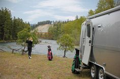 Airstream Golfing by the River