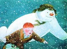 Raymond Briggs- The Snowman illustration - kidlit, children's books The Best Of Christmas, Christmas Art, English Christmas, White Christmas, Raymond Briggs, I Love Snow, Christmas Concert, Animated Icons, Frosty The Snowmen